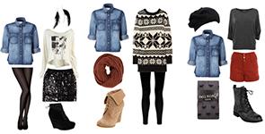 комплекты с джинсовой рубашкой на зиму