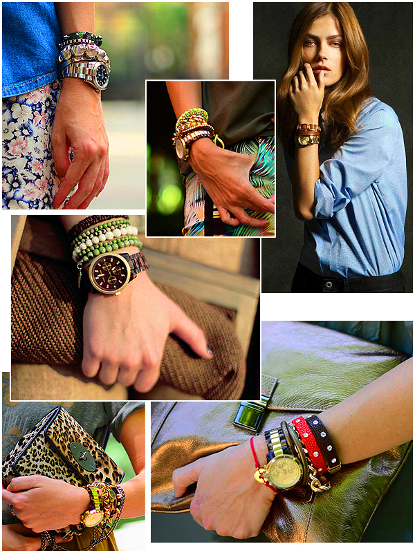 Как носить женские часы с металлическим браслетом