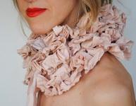 текстильный воротник от Marina Asta Etsy.com