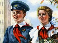 советские школьники с белыми воротничками