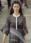 контрастный воротник и планка блузки от Preen SS2013