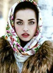платок на голову с шубой