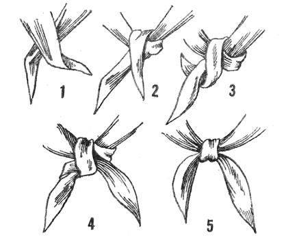 как завязать шейный платок пионерским узлом