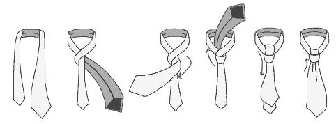 простой галстучный узел
