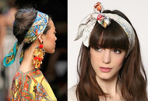 шейный платок повязать на голову