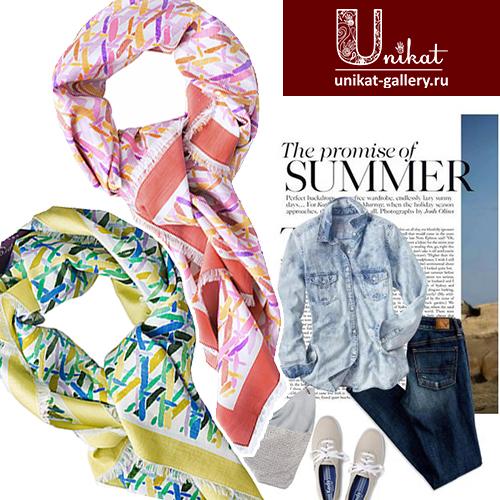 летние платки и шарфы в каталоге Unikat