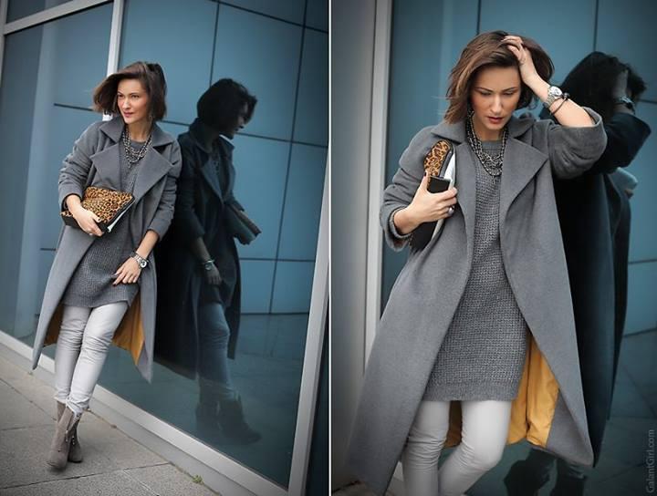 яркий подклад пальто