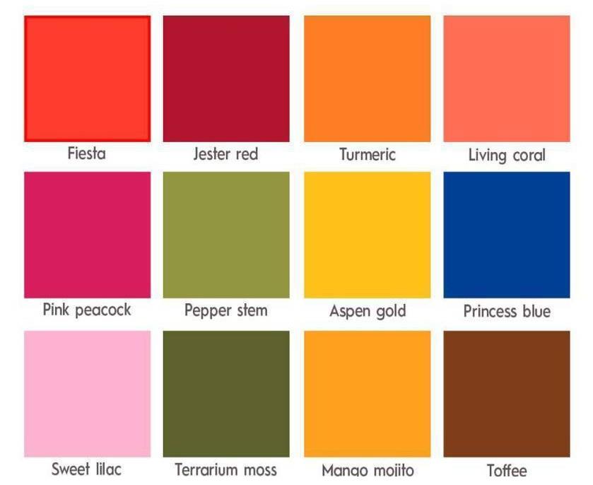 Основные цветовые тренды Лето 2019