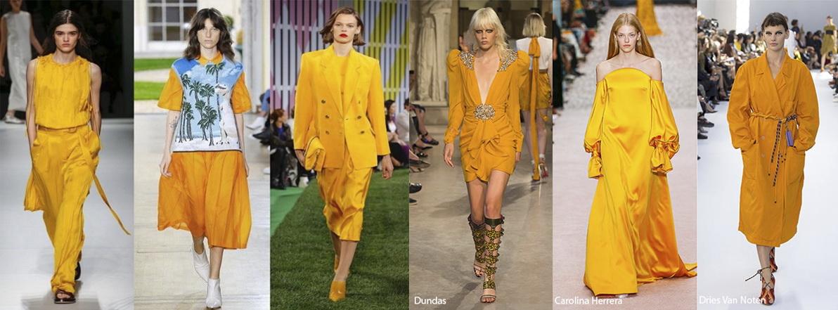 Примеры одежды в цвете Mango Mojito (манговое мохито) Лето 2019
