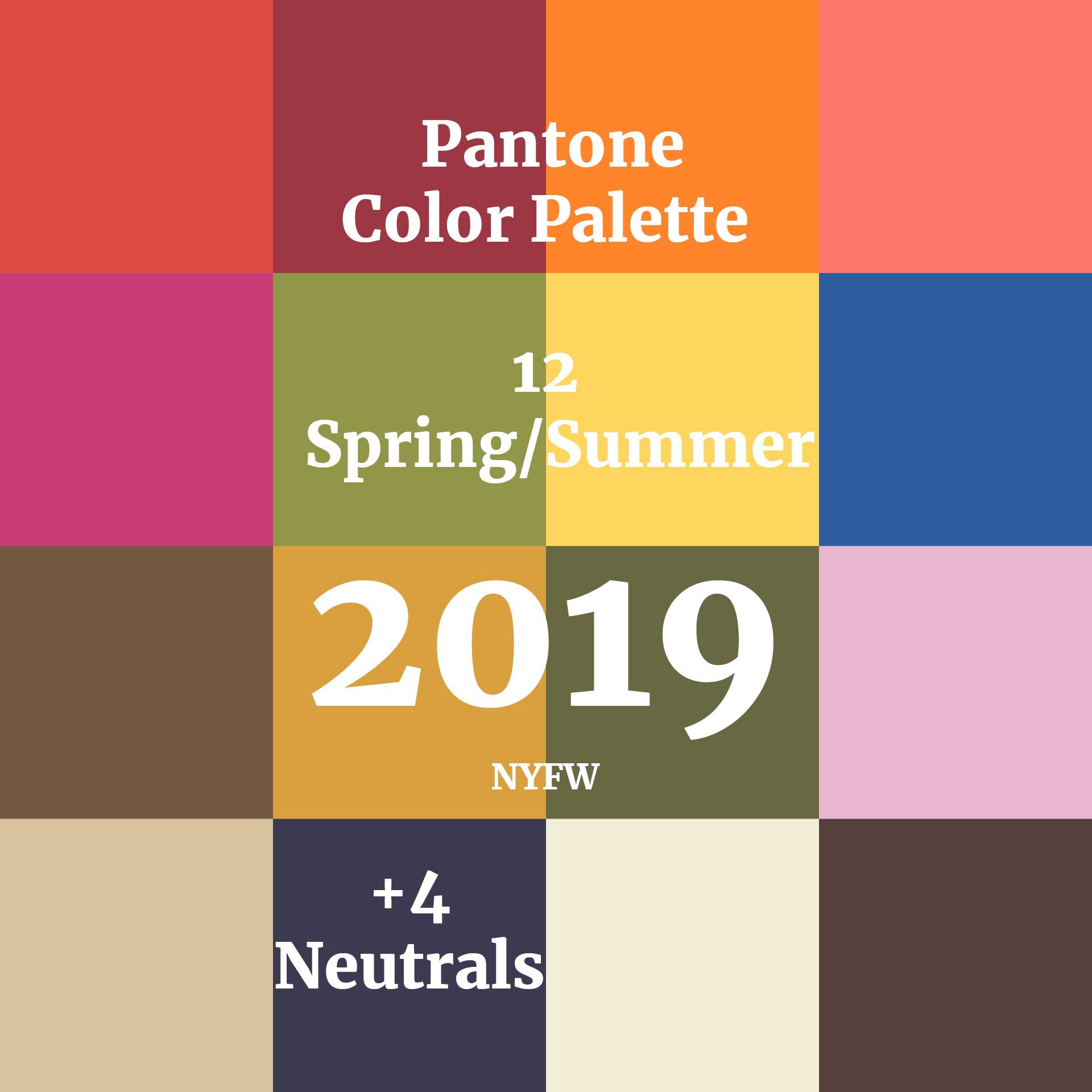 Цветовая палитра сезона Лето 2019