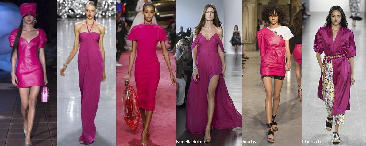 Примеры одежды в цвете Pink Peacock (розовый павлин) Лето 2019
