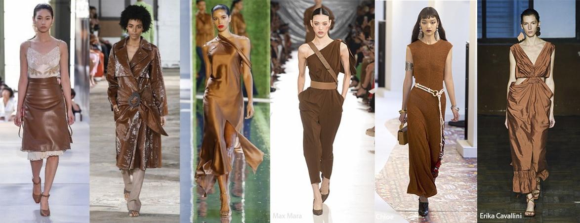 Примеры одежды в цвете Toffee (ирис) Лето 2019