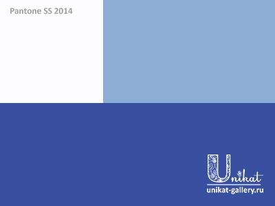 сочетания на основе синего Dazzling Blue