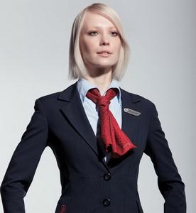 шейный платок у стюардесс Air Canada