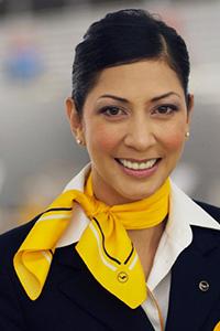 форма стюардесс Lufthansa