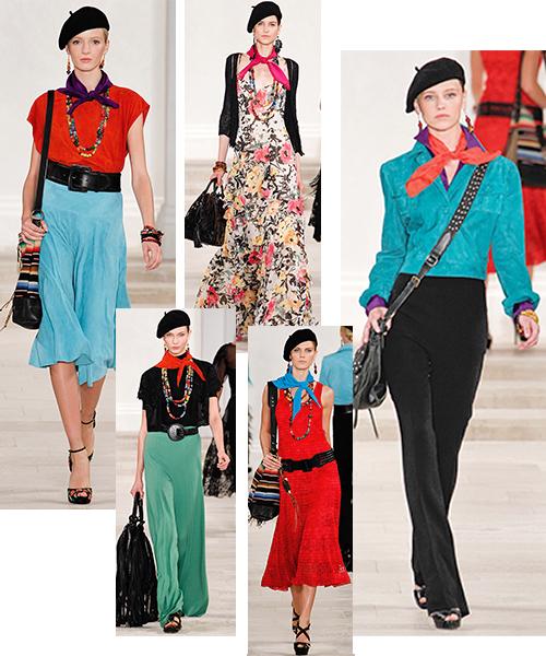 Шейные платки в коллекции Ralf Lauren SS 2013