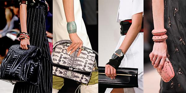 сочетание браслета и сумки