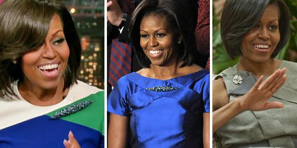 как носит броши Мишель Обама