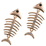 серьги Скелет золотой рыбки