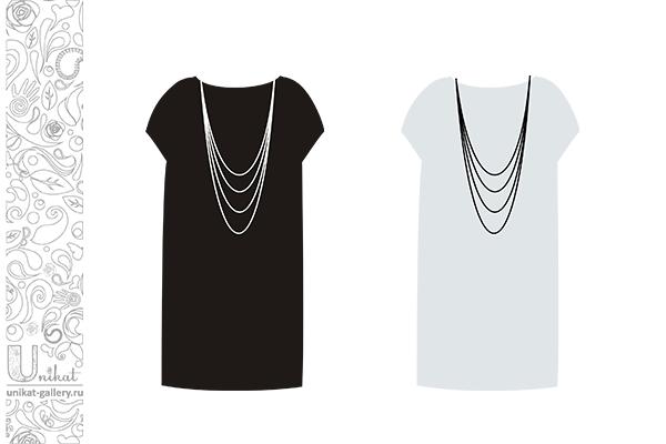 как выбрать украшение в зависимости от цвета платья
