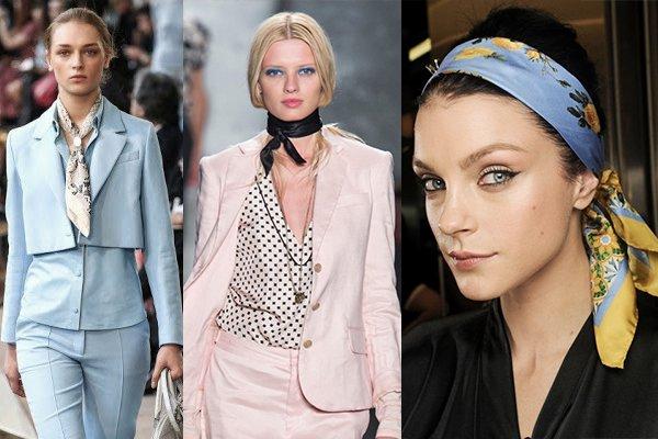 как модно носить шейный платок летом