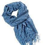 Шарф - палантин *Леопард* голубого цвета
