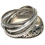 Комплект объемных браслетов в восточном стиле
